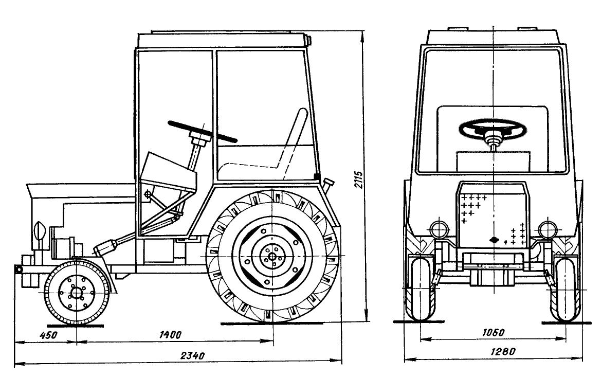 Колесный мини-трактор.