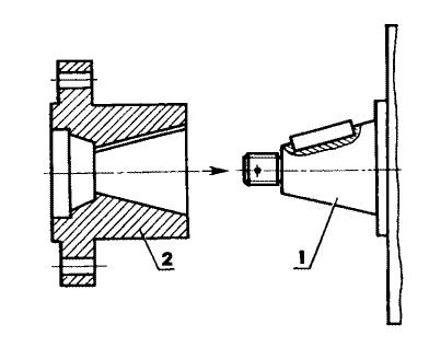 Переходник и его положение относительно двигателя УД-2: