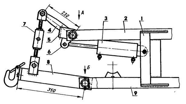 Навесное устройство мини-трактора